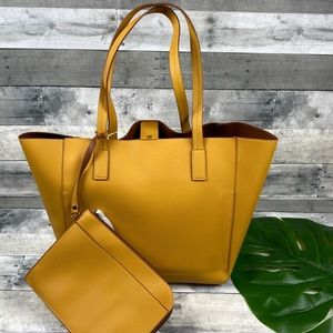 Tommy Bahama reversible yellow tote bag purse